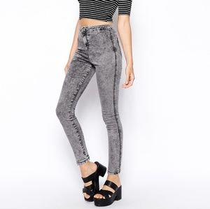 American Apparel Grey Distressed Jeans/Leggings